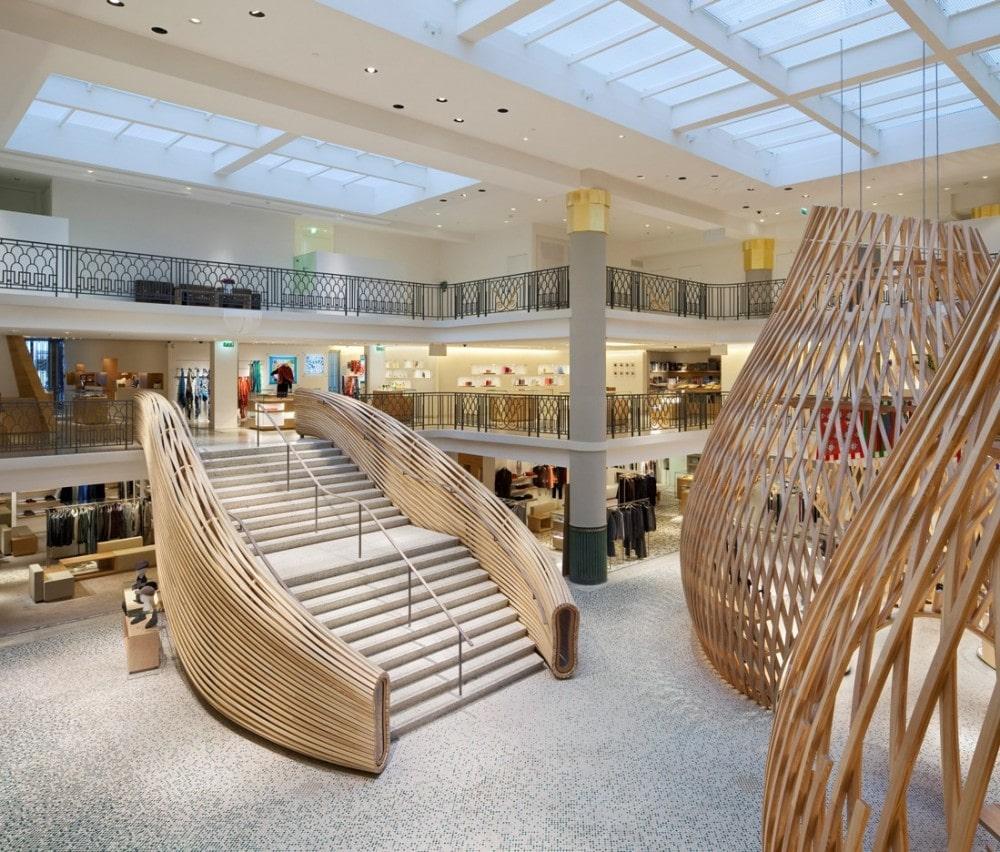 The new Hermès boutique , left bank of Paris