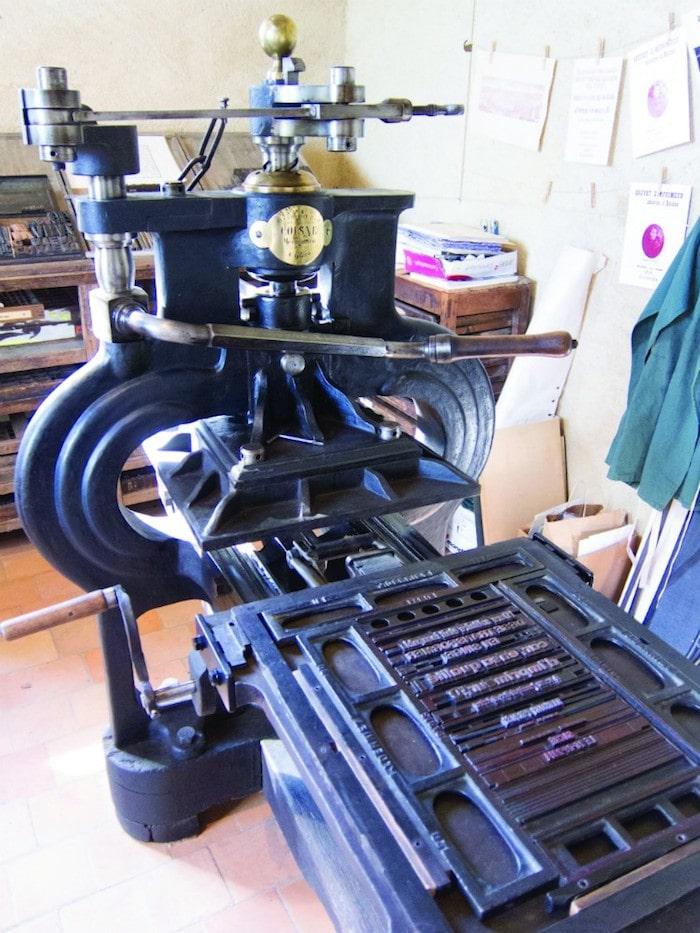 Printing press, Château de Saché