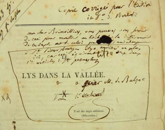 Balzac, Le Lys dans la Vallée (1835)