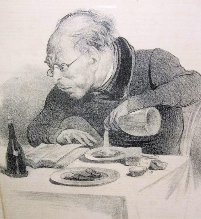'Immersed in Balzac' illustration