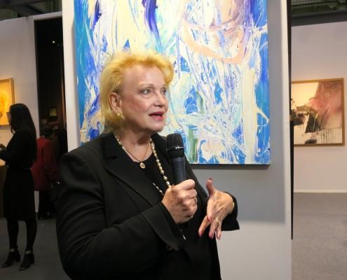 Jan Dilenschneider was guest of honour at Pierre Alain Challier gallery during ART PARIS 2016 photo: ©Sylvia Davis