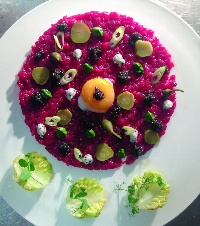caviar tartare by Petrossian