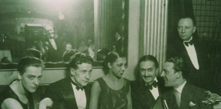 Georges Simenon with wife Tigy, Josephine Baker