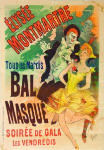 Jules Chéret, Élysée Montmartre. Tous Les Mardis Bal Masque, 1891 / © musée des Beaux-arts Jules Chéret