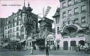 a postcard of the Moulin Rouge circa 1900