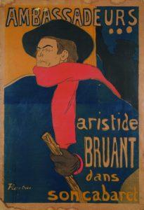 Henri de Toulouse- Lautrec, Ambassadeurs. Aristide Bruant dans son Cabaret, 1892 / Musée Toulouse-Lautrec