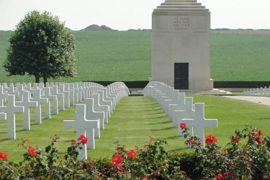 American Cemetery at Bony in Aisne, Picardy (C. Ooghe)