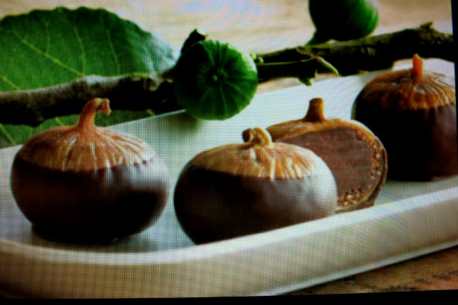 chocolate-covered figs at Fran's Chocolates, photo by Sue Aran