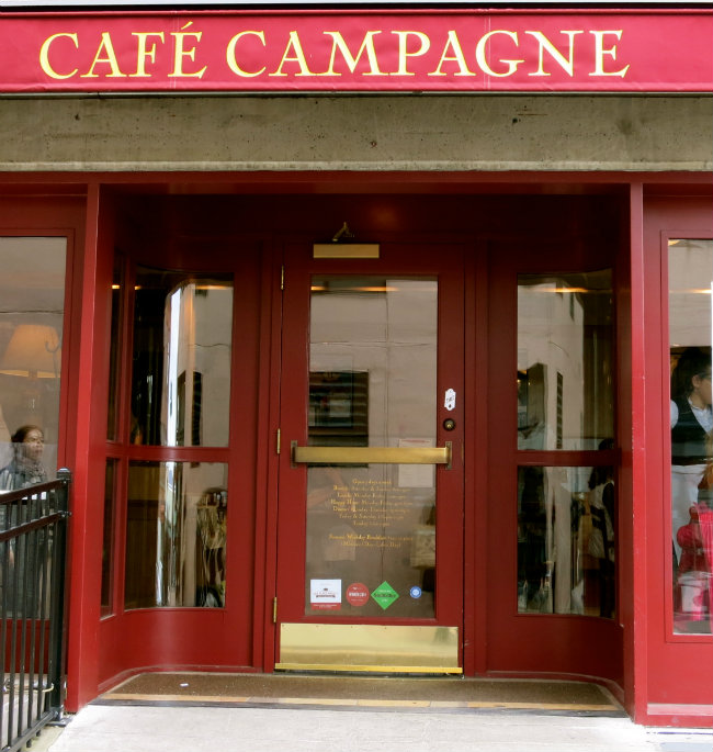 Cafe Campagne, photo by Sue Aran