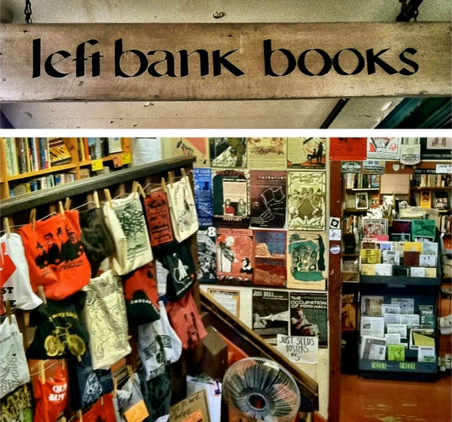 Left Bank books, photo by Sue Aran