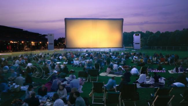 outdoor movie at La Villette