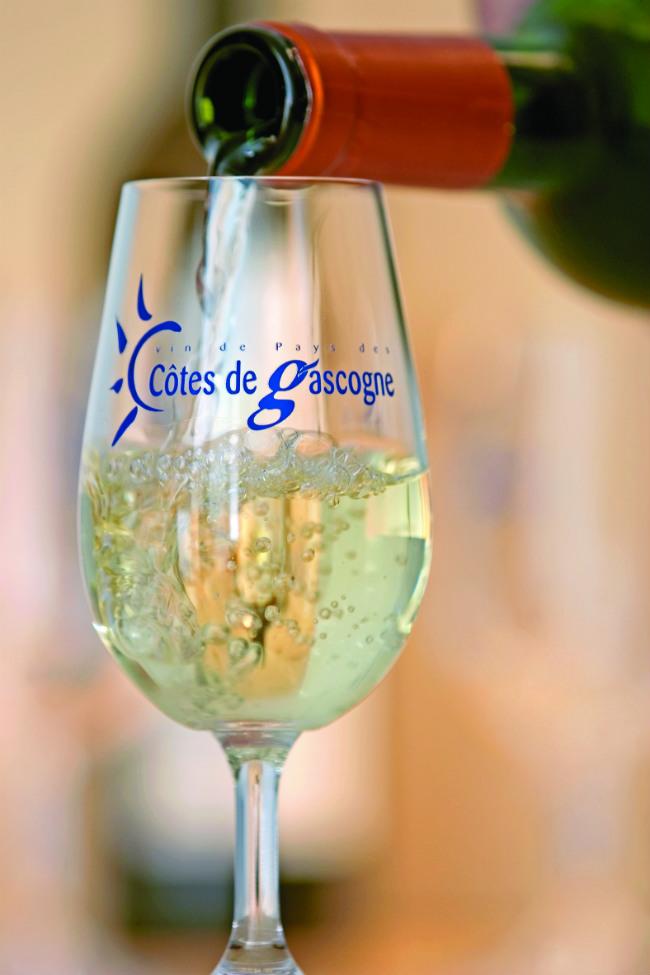 a glass of Cotes de Gascogne