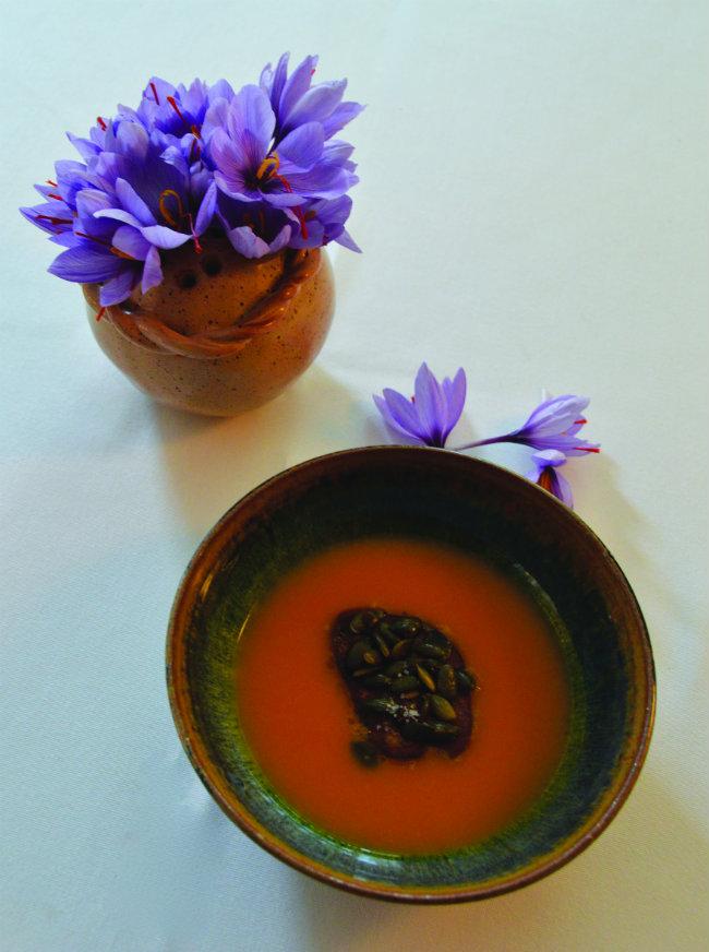 saffron-flavoured foods at the Saffron Festival