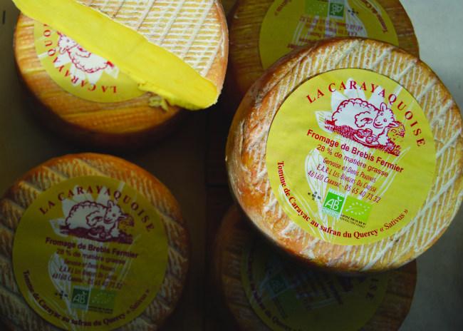 saffron-scented cheese sold at the Saffron Festival