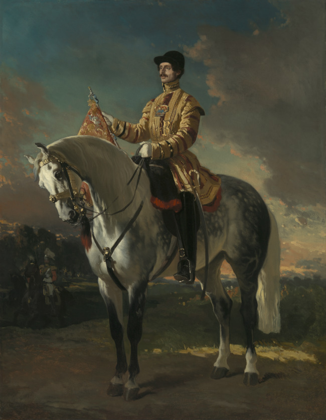 Alfred De Dreux, A Trumpeter of the Life Guards