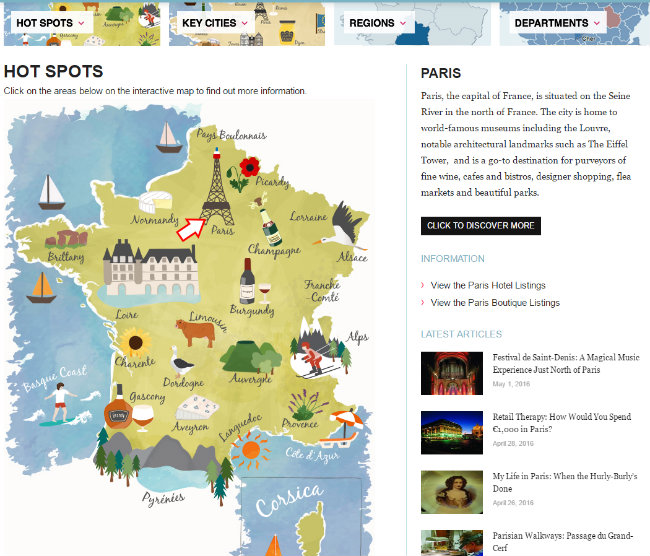 new interactive map tool on FranceToday.com