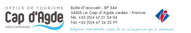 Cap d'Agde Tourist Office Contact Details