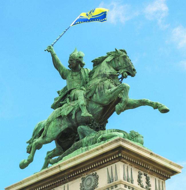 Bartholdi's statue of Vercingetorix