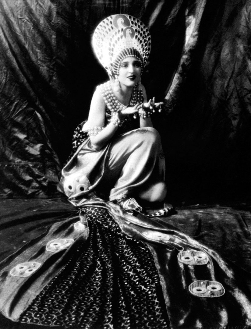 """The actress Carmel Myers in Erté's costume from """"Ben-Hur,"""""""
