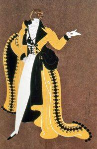 """Costume design for the Paris Opera's production of """"La Traviata"""" 1951."""