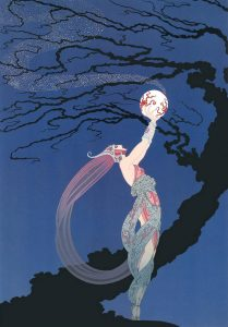 """""""Fireflies""""- a cover for Harper's Bazar magazine May 1918"""