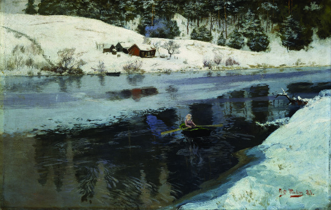 Thaulow, La Rivière Simoa l'hiver