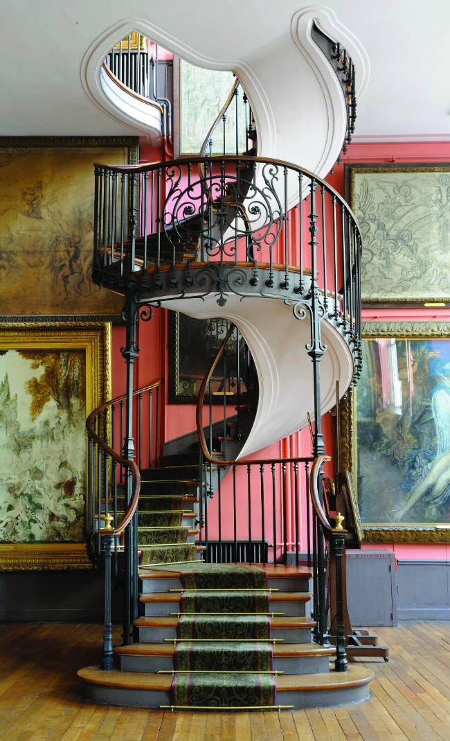 Escalier des ateliers at the Gustave Moreau museum