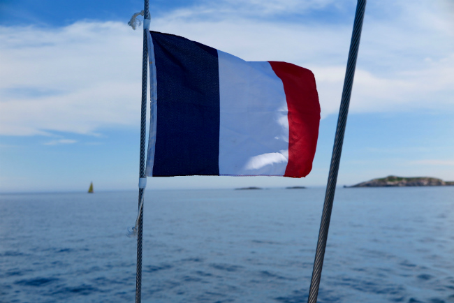 French flag, yacht