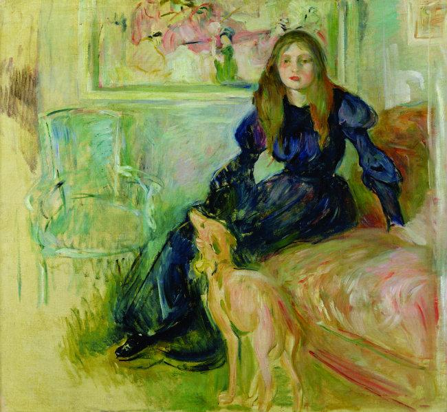 Julie Manet et sa levrette Laërte, by Berthe Morisot
