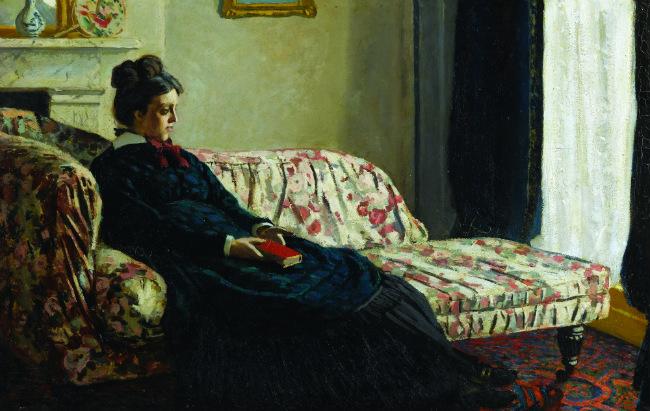 Méditation. Mme Monet au canapé