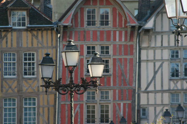 Half-timbered houses in Troyes
