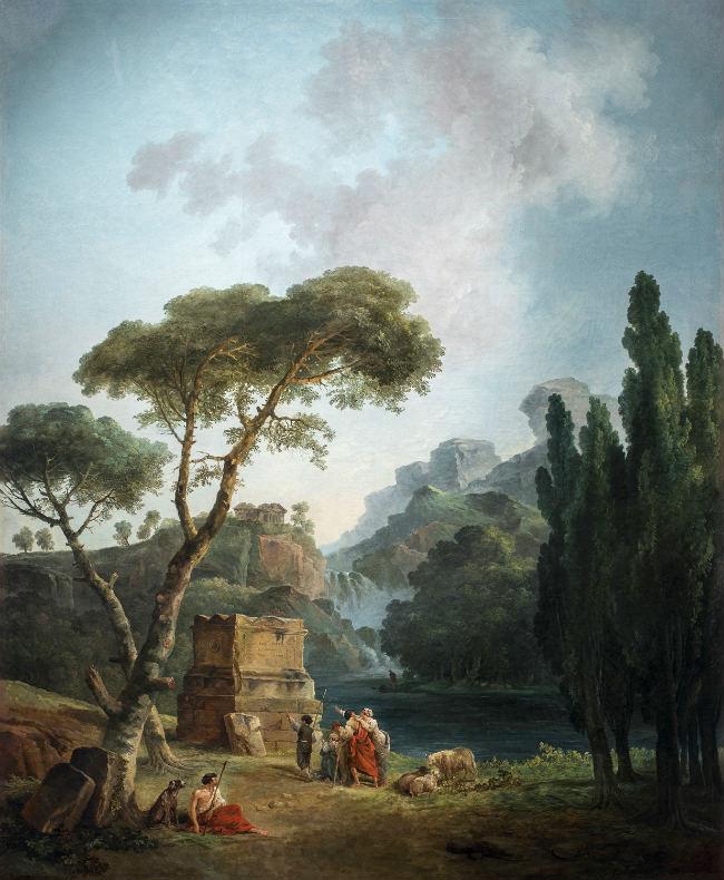 Landscape with Arcadian Shepherds, 1789 oil on canvas overall: 208 x 168 cm (81 7/8 x 66 1/8 in.) Musée de Valence, Art et Archéologie © Musée de Valence, photo: Philippe Petiot