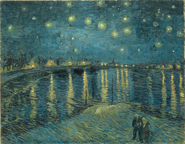 Vincent van Gogh's The Starry Night over the Rhone at Arles, 1888, Musee D'Orsay. © AGO Art Gallery of Ontario