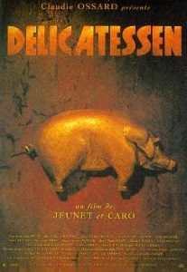 Poster for Delicatessen, a 1991 French film courtesy of Wikipedia / Public Domain
