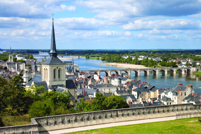 The newly renovated Church of Saint-Pierre de Saumur overlooks the Loire