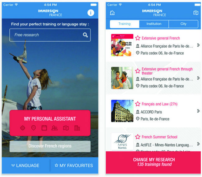 Immersion France, the app