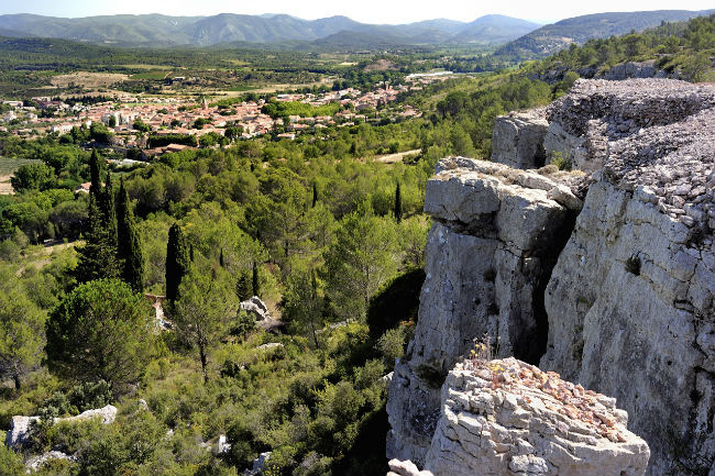 Panorama overlooking the village of Saint Chinian