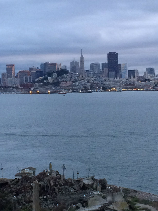 Downtown San Francisco as seen from Alcatraz Island