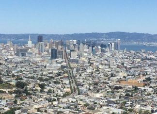 San Francisco and the Bay, as seen from the top of Twin Peaks