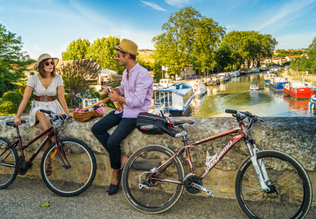 on the canal du Midi in Capestang