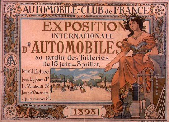 Poster for the exposition internationale d'automobiles de 1898. Public Domain