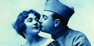a vintage postcard from the Paris Puces