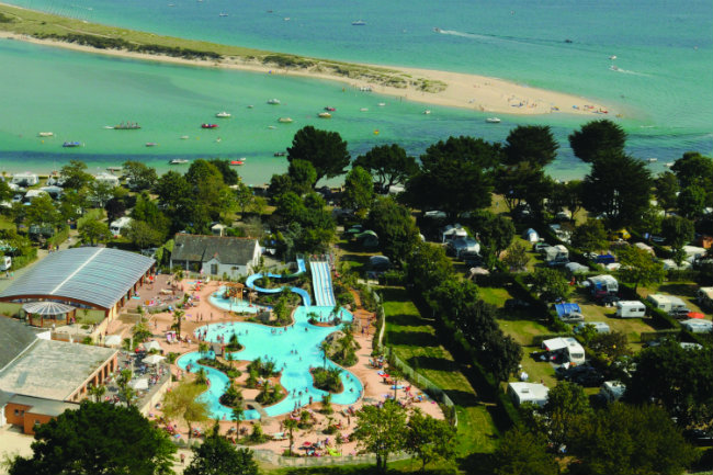 an aerial view of Camping du Letty in Bénodet