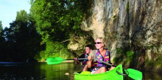 canoeing in the Dordogne