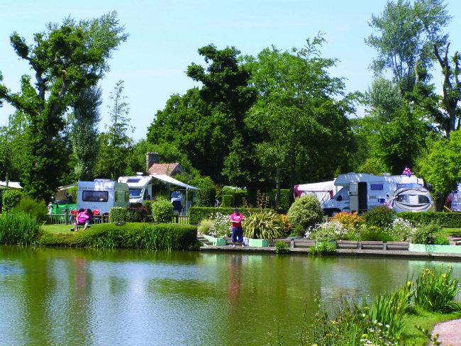 Camping Normandy-style at Étang des Haizes