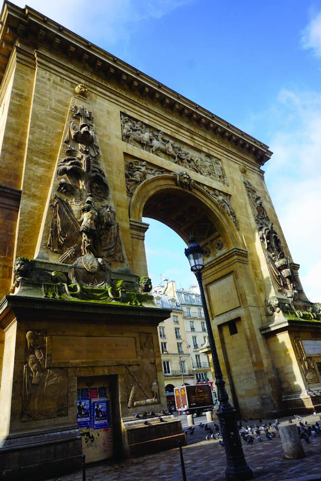 Louis XIV's triumphal arch, La Porte Saint-Denis,