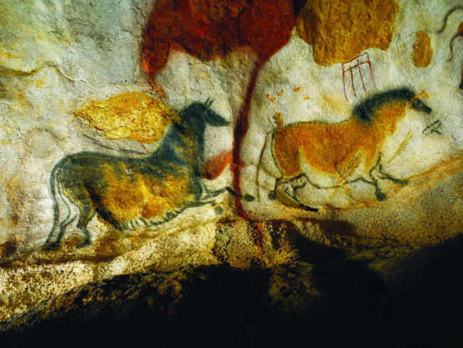 The ancient cave paintings of Lascaux