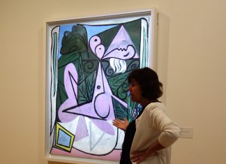 Poullain on Pablo Picasso's Nude with Bouquet of Iris and Square Mirror