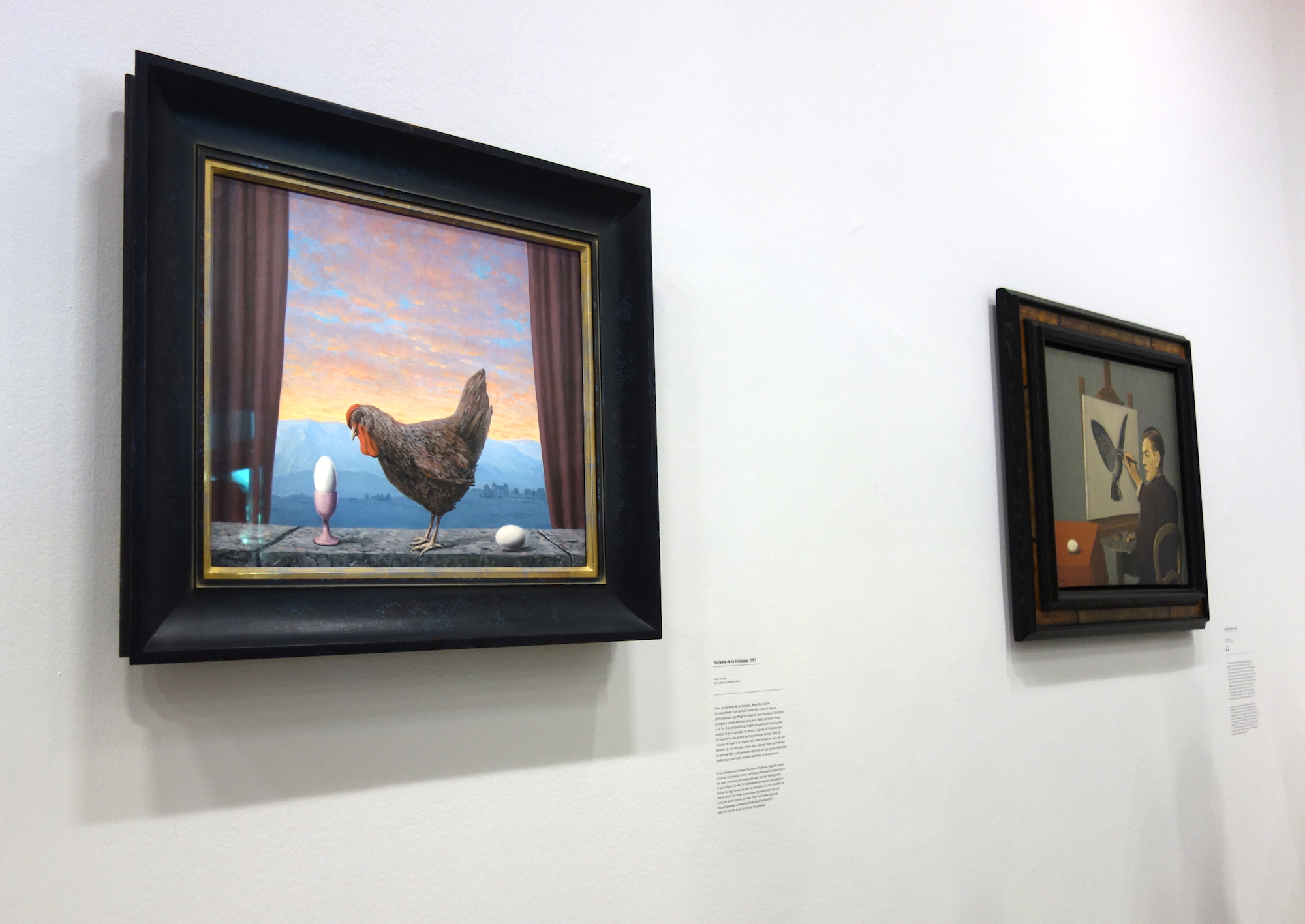 "Which came first? Renée Magritte's ""Problems"", view of the exhibition -Photo by Sylvia Davis"