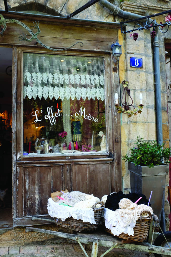 A shop in the Dordogne